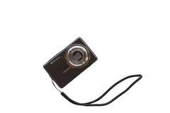 Fondo digitale compatto di bianco dell'isolato della macchina fotografica della foto Fotografia Stock Libera da Diritti