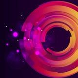 Fondo digitale del bokeh della galassia Immagini Stock