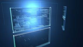 Fondo digitale del programm di codice macchina illustrazione di stock