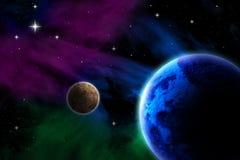 Fondo digitale dell'illustrazione dello spazio cosmico royalty illustrazione gratis