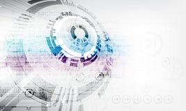 Fondo digitale di tecnologia della comunicazione di colore astratto illustrazione di stock