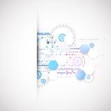 Fondo digitale di tecnologia della comunicazione di colore astratto illustrazione vettoriale
