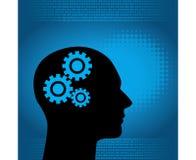 Fondo digitale ed umano binario in blu Fotografia Stock Libera da Diritti
