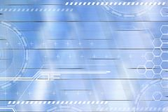 Fondo digitale futuristico astratto Concetti di comunicazione e di affari globali con lo spazio vuoto della copia royalty illustrazione gratis