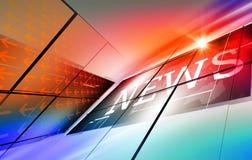 Fondo digitale moderno grafico di notizie di mondo Fotografie Stock