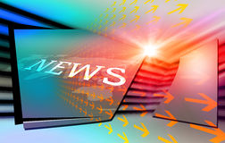 Fondo digitale moderno grafico di notizie di mondo Immagini Stock