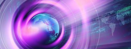Fondo digitale moderno grafico di notizie di mondo illustrazione vettoriale