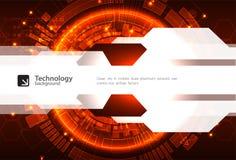 Fondo digitale rosso astratto di tecnologia della comunicazione illustrazione di stock