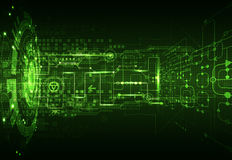 Fondo digitale verde astratto di tecnologia della comunicazione royalty illustrazione gratis