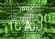 Fondo dinámico con códigos binarios fotos de archivo