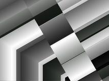 Fondo dinámico del detalle arquitectónico de aluminio abstracto ilustración del vector