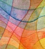 Fondo dipinto acquerello astratto dell'onda Fotografie Stock Libere da Diritti