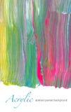 Fondo dipinto acrilico strutturato astratto Fotografie Stock