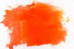 Fondo dipinto arancia dell'acquerello fotografie stock libere da diritti