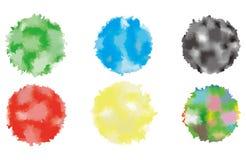 Fondo dipinto cerchio blu astratto dell'acquerello Vettore Immagini Stock