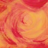 Fondo dipinto dell'album per ritagli con rosso ed arancio Fotografia Stock