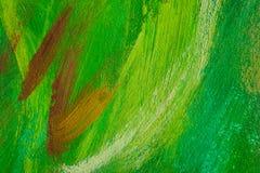 Fondo dipinto di colore, struttura verde astratta della pittura Immagini Stock