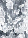 Fondo dipinto a mano astratto creativo in bianco e nero, spazzola illustrazione di stock