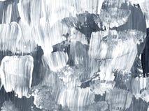 Fondo dipinto a mano astratto creativo in bianco e nero, spazzola illustrazione vettoriale
