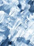 Fondo dipinto a mano astratto creativo blu, struttura della spazzola illustrazione vettoriale