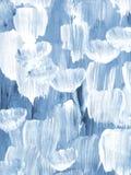 Fondo dipinto a mano astratto creativo blu, struttura della spazzola illustrazione di stock