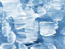 Fondo dipinto a mano astratto creativo blu, struttura della spazzola royalty illustrazione gratis