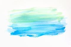 Fondo dipinto a mano astratto dell'acquerello su carta struttura per il materiale illustrativo creativo di progettazione o della  Fotografie Stock Libere da Diritti
