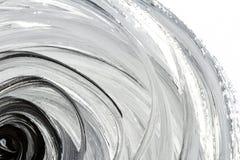 Fondo dipinto a mano in bianco e nero astratto Fotografie Stock Libere da Diritti