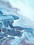 Fondo dipinto a mano creativo astratto blu royalty illustrazione gratis