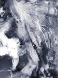 Fondo dipinto a mano di astrattismo in bianco e nero Fotografie Stock Libere da Diritti