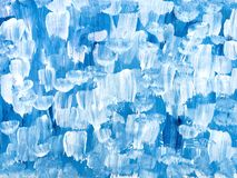 Fondo dipinto a mano di astrattismo blu illustrazione di stock