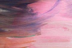Fondo dipinto a mano strutturato artistico astratto su tela Immagini Stock Libere da Diritti