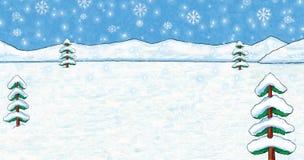 Fondo dipinto Natale/di inverno Immagini Stock
