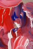 Fondo dipinto nei toni rossi, bianchi e blu fotografia stock libera da diritti