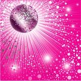 Fondo - diseño CD de la cubierta con la disco-bola Imagen de archivo libre de regalías