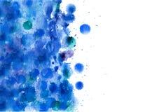 Fondo disegnato a mano astratto dell'acquerello, illustrazione di vettore Fotografie Stock