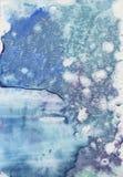 Fondo disegnato a mano astratto della spruzzata dell'acquerello del turchese Stylefish di verniciatura di struttura Colori di pen illustrazione di stock