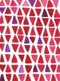 Fondo disegnato a mano dell'acquerello con i triangoli Immagine Stock
