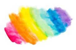 Fondo disegnato a mano dell'acquerello Priorità bassa del Rainbow Fondo d'avanguardia per i progettisti Fondo isolato su fondo bi illustrazione di stock