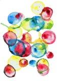 Fondo disegnato a mano delle bolle dell'acquerello Fotografia Stock Libera da Diritti