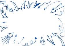 Fondo disegnato a mano delle frecce royalty illustrazione gratis
