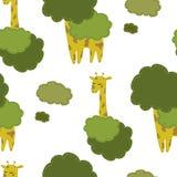 Fondo disegnato a mano delle giraffe Fotografie Stock Libere da Diritti