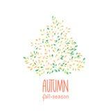 Fondo disegnato a mano di autunno Fotografia Stock