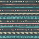 Fondo disegnato a mano tribale, modello di scarabocchio di etica Fotografie Stock