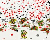 Fondo dispersado de las tarjetas que juegan Foto de archivo libre de regalías