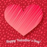 Fondo dissipato dei punti della scheda del giorno del biglietto di S. Valentino a disposizione illustrazione vettoriale