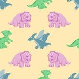 Fondo divertido de los seamles de los dinosaurios Imágenes de archivo libres de regalías