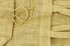 Fondo doblado de la secuencia del bolso de arpillera imagen de archivo