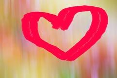 Fondo dolce di blure di giorno di biglietti di S. Valentino di amore del cuore Fotografia Stock Libera da Diritti