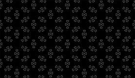 Fondo domestico in bianco e nero senza cuciture del modello di vettore Arti, ambiti di provenienza immagine stock libera da diritti